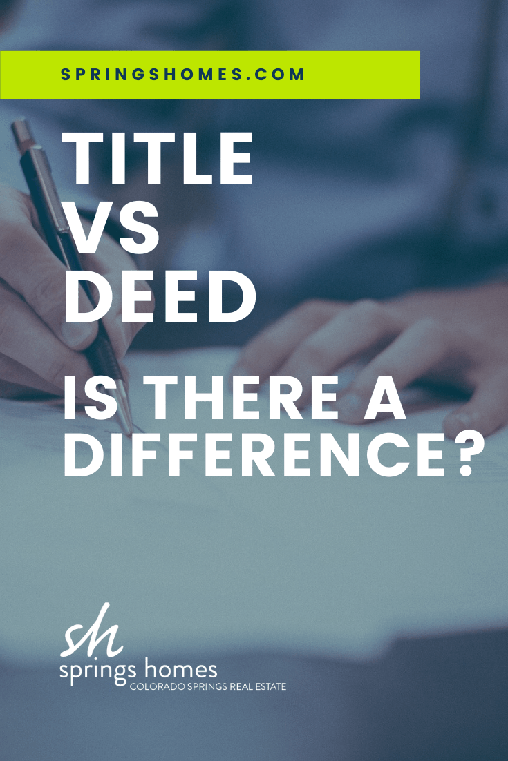 Title vs Deed What's the Difference