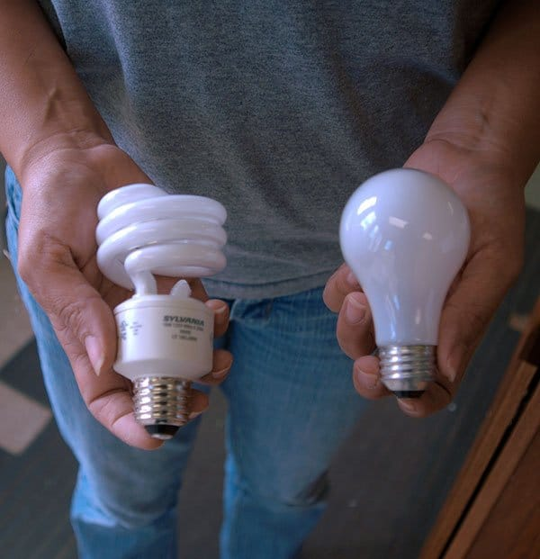 Conduct home energy audit test prior to making changes