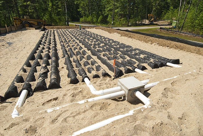 Residential Septic System Leach Field