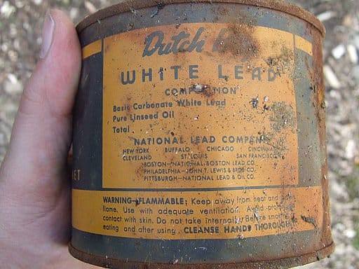 Lead based paint can