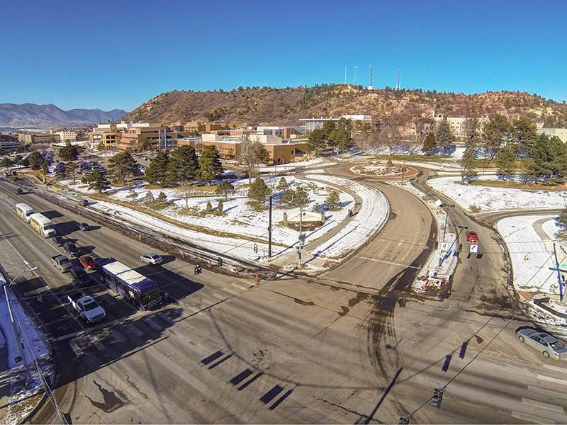 Aerial view of UCCS