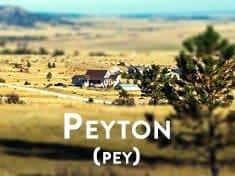 Peyton Colorado